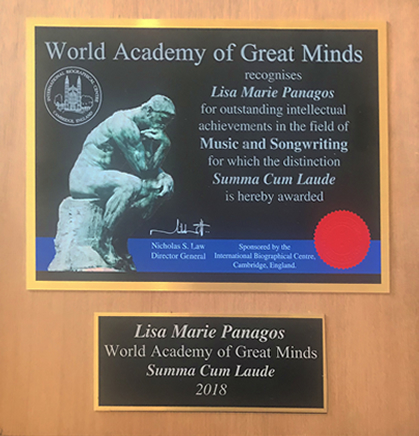 singer songwriter actress Lisa Panagos